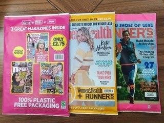 Paperwrapped magazines